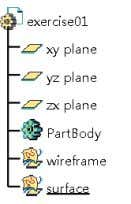 "named ""wireframe"" and ""surface"" as shown in Fig 2-5. Fig 2-5 Creating Geometrical Sets Sample Chapter"