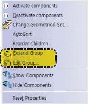 of the group or ungroup it by choosing option. the Edit Group Fig 2-13 Group Dialog