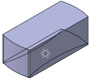 body in a work object. 5. Create a 50 mm Pad feature as shown in Fig