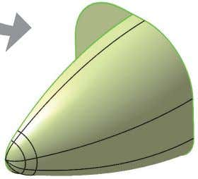 and extrude surface as shown in Fig 9-71. Section Direction Sample Chapter Fig 9-71 Multi-Sections Surface