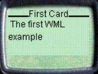 the update, the phone displays the WML file as follows: ! Note: If the WAP phone