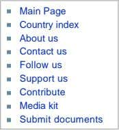 Main Page Country index About us Contact us Follow us Support us Contribute Media kit