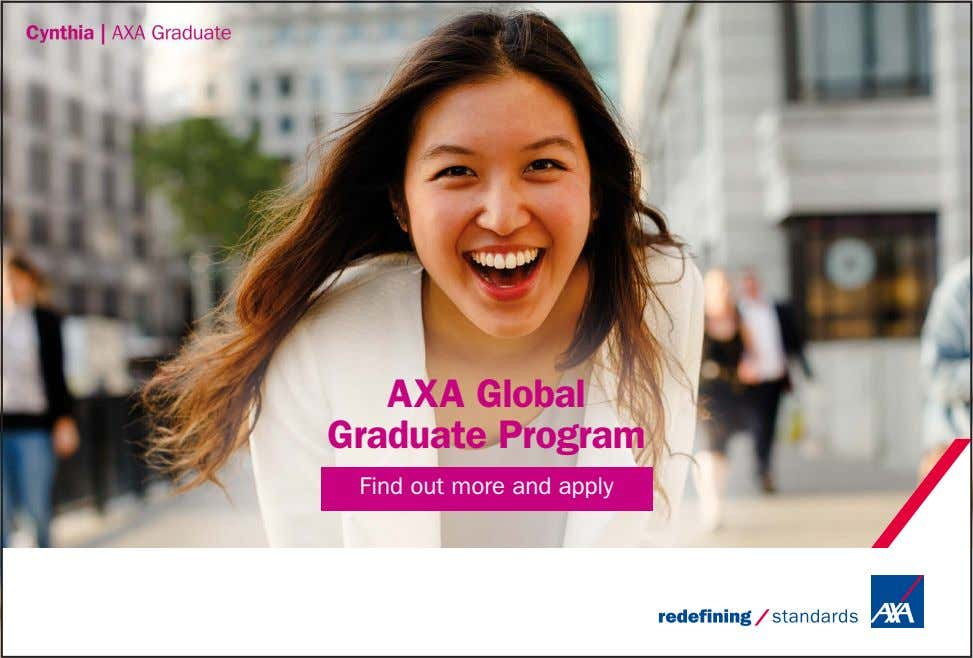 AXA Global Graduate Program Find out more and apply