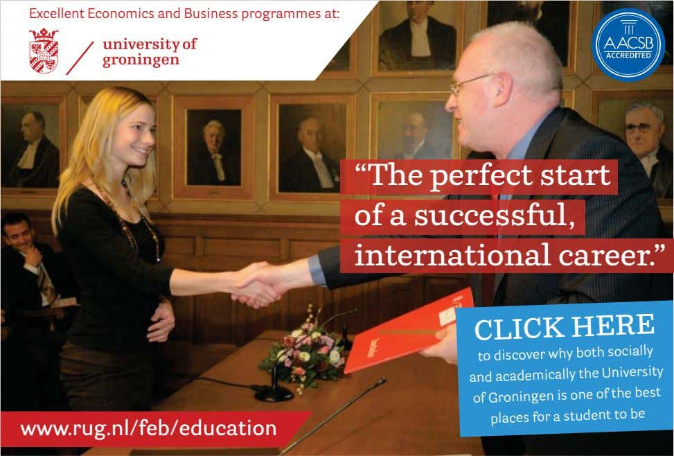 "Excellent Economics and Business programmes at: ""The perfect start of a successful, international career."" CLICK"