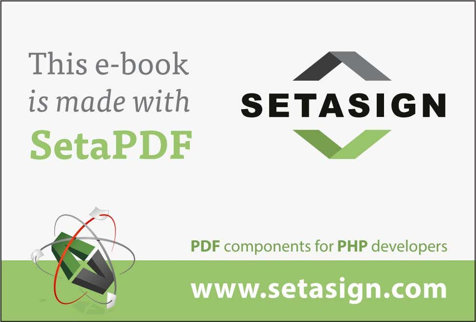 This e-book is made with SE T A SIG N SetaPDF PDF components for PHP