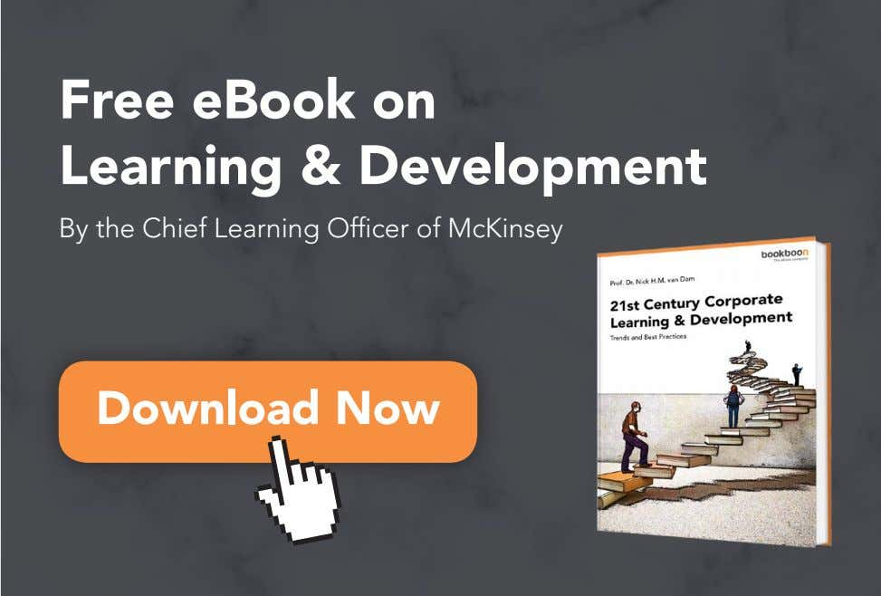Free eBook on Learning & Development By the Chief Learning Officer of McKinsey Download Now