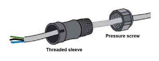 a nd pressure screw through th e AC wire (See figure 14). Figure 14 Step2: Wire