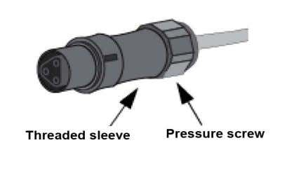 Step5: Screw down the pressure screw (Figure 18). Figure 18 Step6: Connect AC connector to inverter