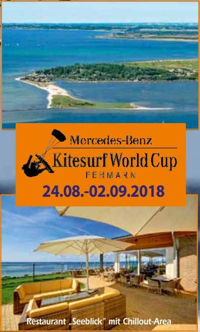 "24.08.-02.09.2018 Restaurant ""Seeblick"" mit Chillout-Area"