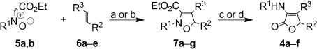 and the subsequent intramolecular lactonization (Scheme 2). Scheme 1. Reagents and conditions: (a) Microwaves, toluene,