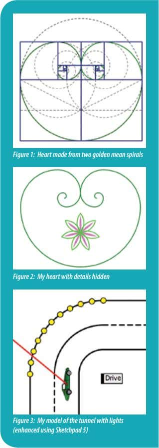 Figure 1: Heart made from two golden mean spirals Figure 2: My heart with details