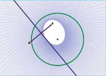 updated. When point A sits outside the circle, the locus forms the envelope of a hyperbola.