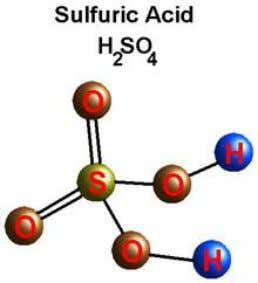 name Sulfuric acid Other names Oil of vitriol Structure Molecular formula H 2 SO 4 Molar