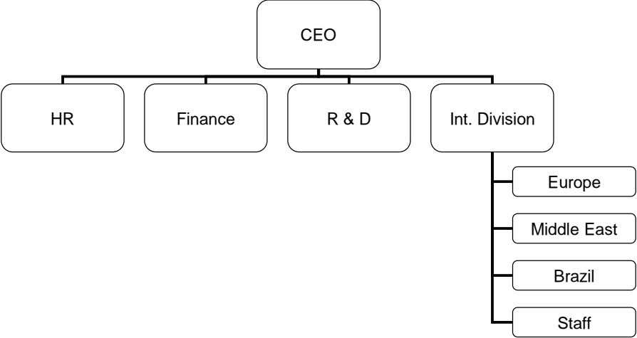 CEO HR Finance R & D Int. Division Europe Middle East Brazil Staff