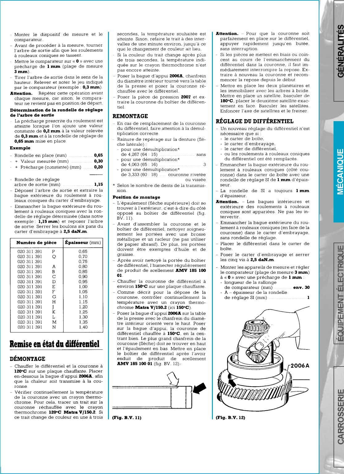 BOITE DE VITESSES-DIFFERENTIEL   page 118