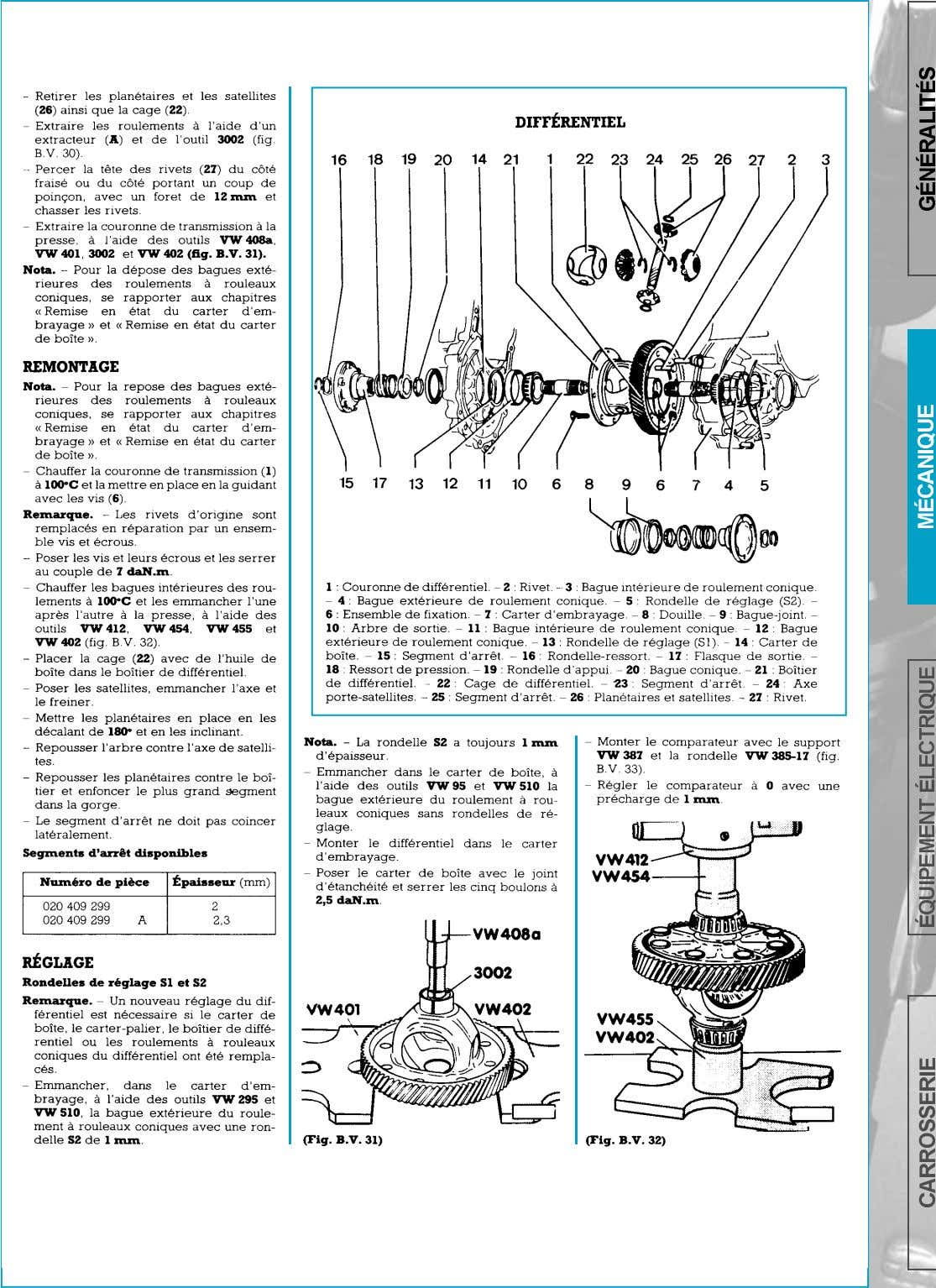 BOITE DE VITESSES-DIFFERENTIEL   page 127