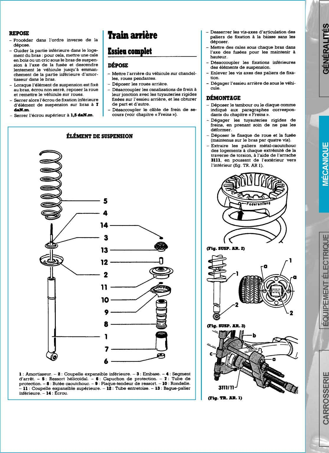 SUSPENSION-TRAIN ARRIERE   page 153