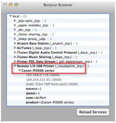 A remote printer on an Apple AirPort Express is shown here: Related Information ∑ Technical Support