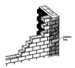 It is important to plaster the corner well beyond the joint. Hydraform training manual copyright 2005