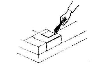 leaking joints, Make sure to hammer the blocks in position. · Seal the joints with a
