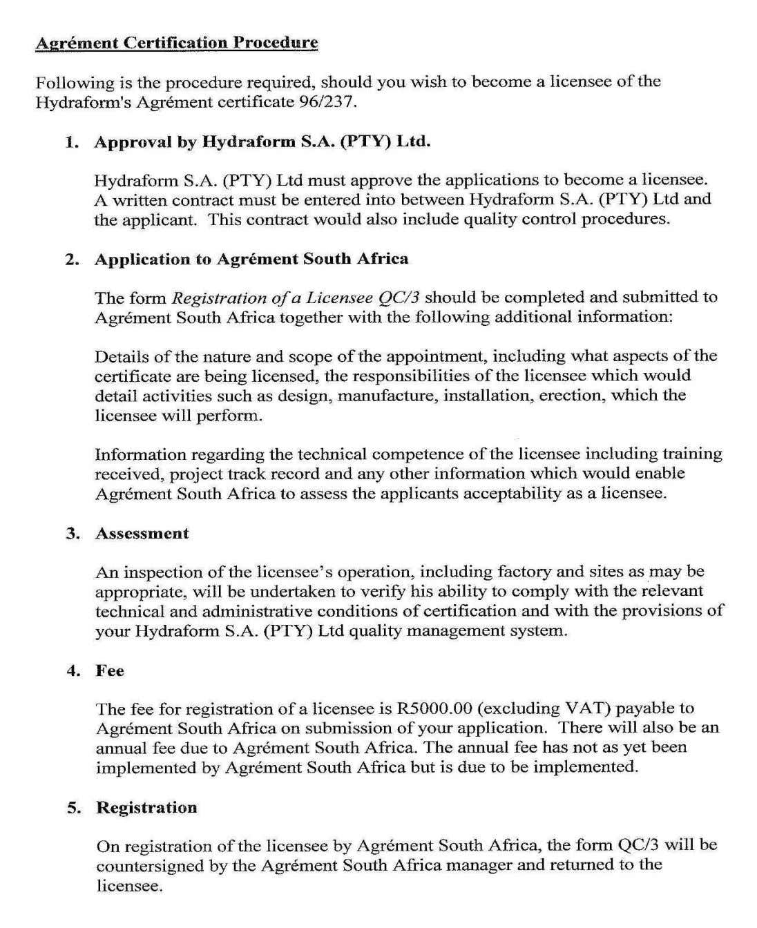 Hydraform training manual copyright 2005 Page 60 Revision 31/10/05   Website