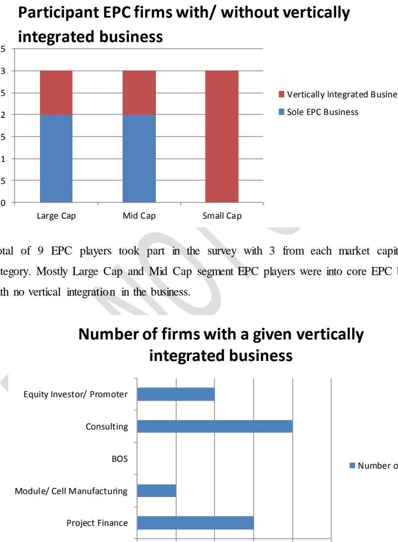 Participant EPC firms with/ without vertically integrated business 3 2 1 0 Large Cap Mid