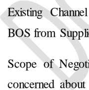 to value added services for BOS as compared to PV modules. Existing Channel of Module/BOS procurement: