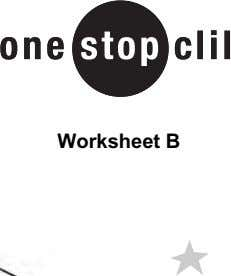 Worksheet B