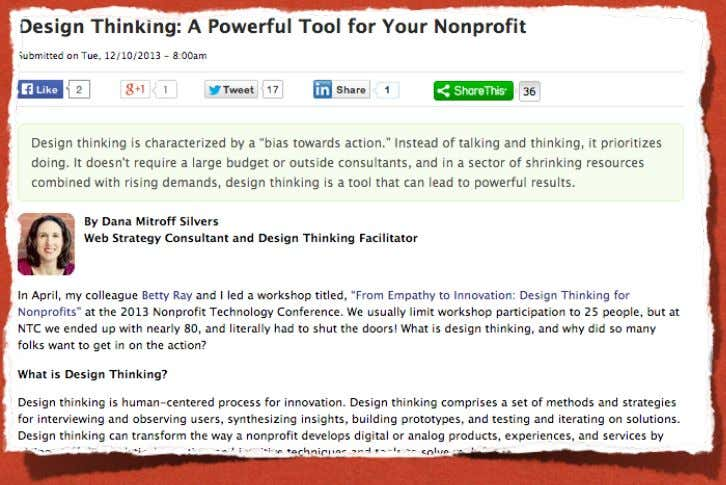 9.THE GUEST POST This is also a great way to appreciate a network member source:The Nonprofit