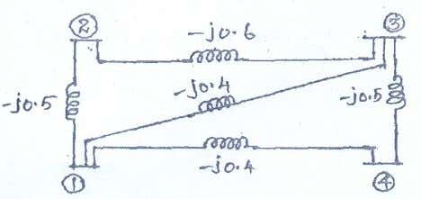 POWER SYSTEM ANALYSIS 6. Find the bus impedance matrix for the system whose reactance diagram is