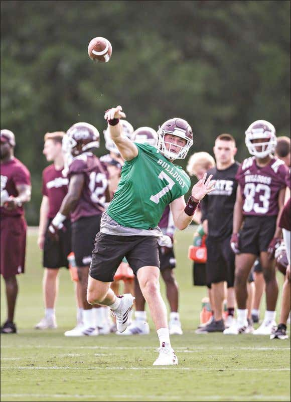 n CDISPATCH.COM n TUESDAY, AUGUST 6, 2019 ArMS rACE Aaron Cornia/MSU athletics Mississippi State quarterback