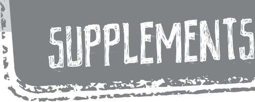 Supplements are not compulsory, but can play a huge role in helping you achieve your
