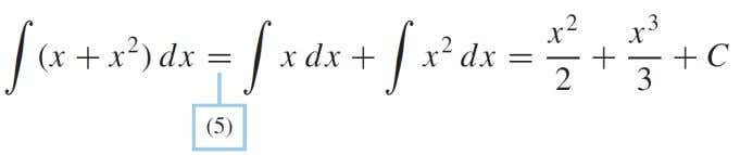 PROPERTIES OF THE INDEFINITE INTEGRAL EXEMPLE Evaluate