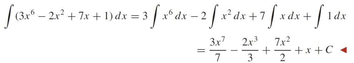 PROPERTIES OF THE INDEFINITE INTEGRAL EXEMPLE
