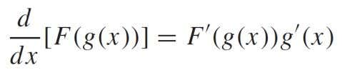 that the derivative of F ( g ( x )) can be expressed as : which