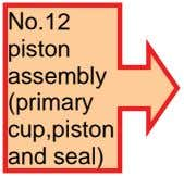 No.12 piston assembly (primary cup,piston and seal)