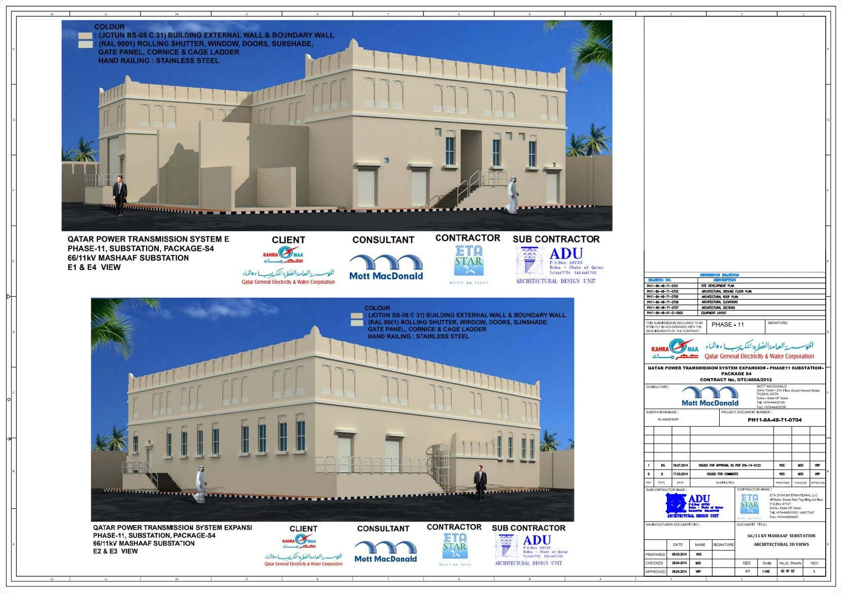 66/11 KV MASHAAF SUBSTATION ARCHITECTURAL 3D VIEWS A3