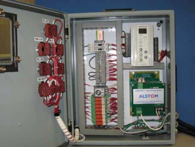 space is available or in an adjacent cabinet if necessary. ignitor control cabinet shown with flame
