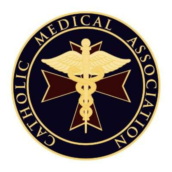 This symbolism from the Catholic Medical Association is rather straight forward, but the history of