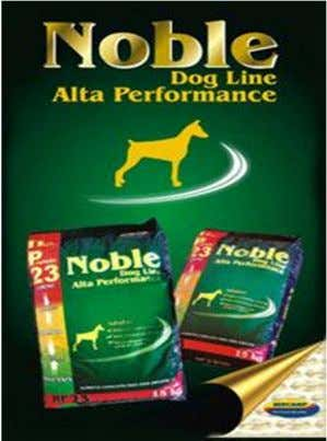 NOBLE DOG LINE - ALTA PERFORMANCE - High Premium Embalagem 15 kgs Cor do Pellet =