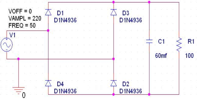 Journal on Computer Science and Engineering (IJCSE) Figure 4: conventional single phase diode rectifier with
