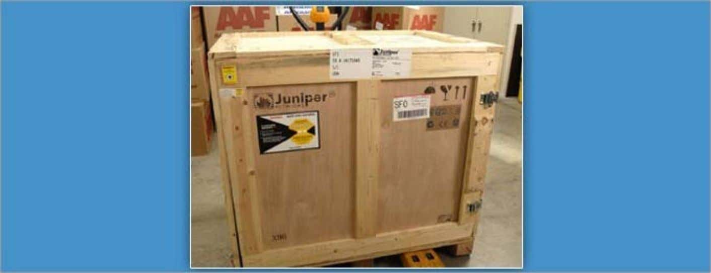 Unpacking the SRX5800 Services Gateway The SRX5800 Services Gateway is shipped in a wooden crate that