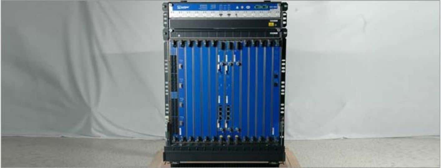 SRX5800 Services Gateway Description • 12 slots that can be populated with up to 11 Services