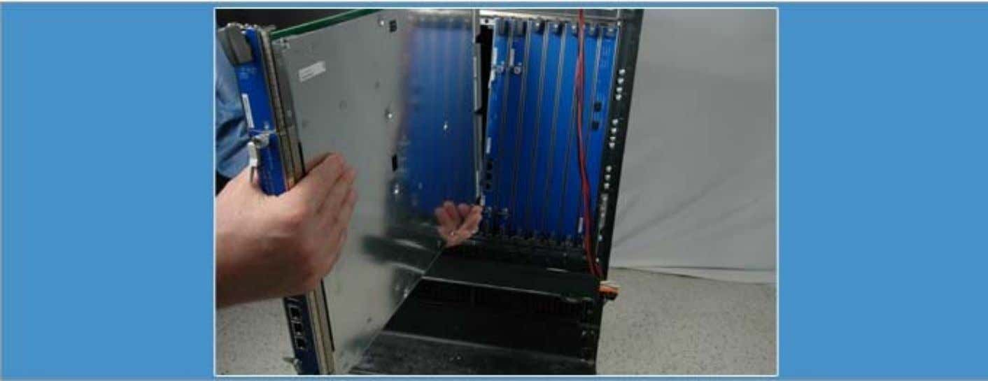 Removing a Switch Control Board To remove an SCB, follow this procedure: • Place an electrostatic