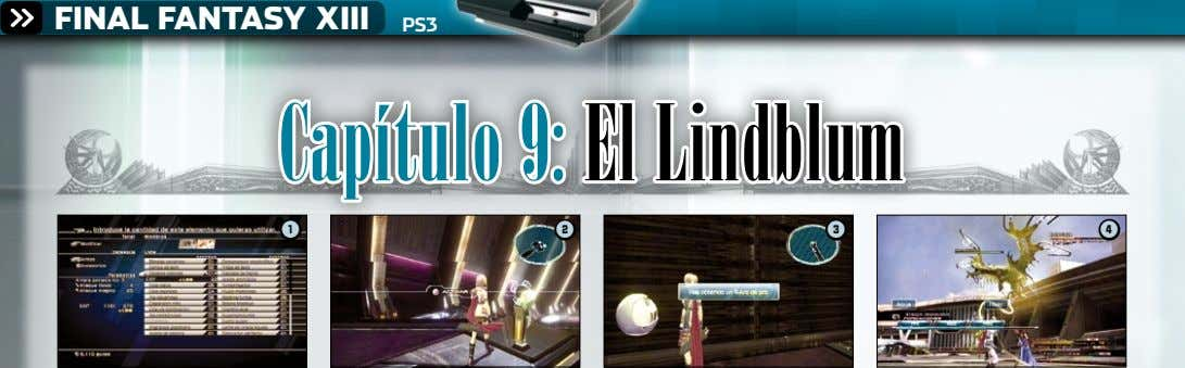 FINAL FANTASY XIII PS3 Capítulo 9: El Lindblum 1 2 3 4