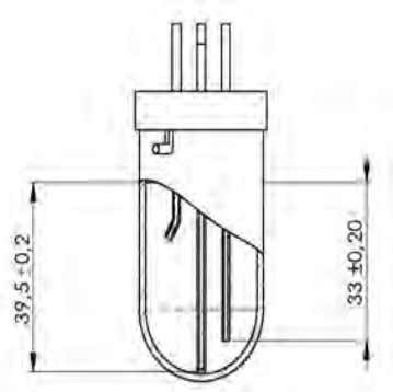 Figure 6.10, with a tissue and distilled water. Figure 6.9 Figure 6.10 The electrodes/tubes are fitted