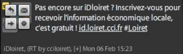 Update Exemples de tweets Reply (@cciloiret …) Direct Message (D cciloiret) Retweet (RT @cciloiret …) Others