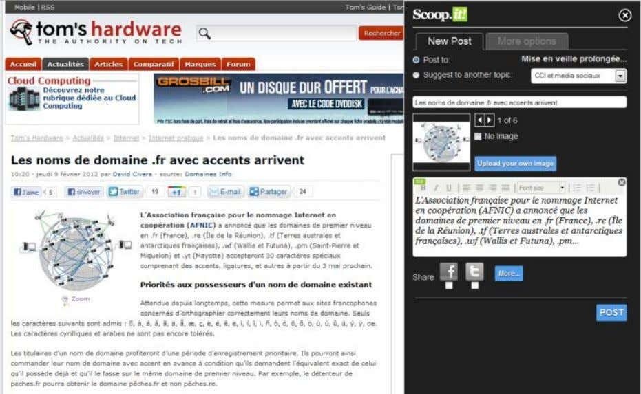 AJOUTER UN ARTICLE SUR SCOOP.IT (BIS)