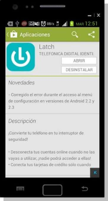 Página : 45 of: 73 Latch disponible en Google Play Acceso directo a Latch en el