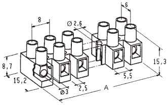 Nylon terminal blocks - 2.5 mm 2 APPROVAZIONI - APPROVALS Articolo Type 2,5 18-16 AWG 20-16